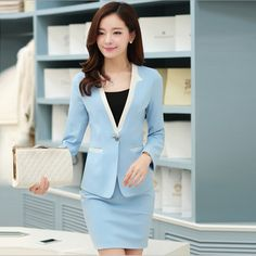 Cheap suit and dress bags, Buy Quality skirt suit directly from China suit polyester Suppliers:          Name:ladies work uniforms       Material: 94% polyester + 4% spandex       Size: S, M, L, XL,XXL,XXXL
