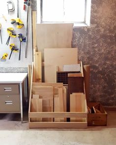 See how to build a scrap wood storage rack for your workshop. using scrap wood!