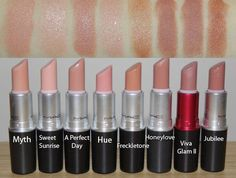 MAC nude lipsticks.