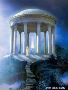 🏞 Atlantis Atlantis, Fantasy Places, Fantasy Art, Sirian Starseed, Greece Mythology, Spiritual Paintings, Esoteric Art, Divine Light, Ancient Mysteries
