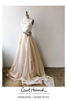 Draped linen skirt in champagne and blush with silk jersey tank and Alurina belt. Non-traditional wedding separates. Wedding Skirt, Wedding Gowns, Wedding Ceremonies, Vow Renewal Dress, Kensington, Full Gown, Traditional Wedding Dresses, Traditional Weddings, Nontraditional Wedding