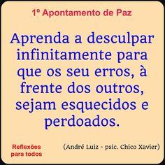 Acesse esta reflexão, com link para o texto completo dos Dez Apontamentos de Paz. #ChicoXavier #Reflexao