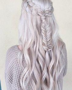 I have always loved white blonde hair.