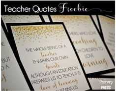 Teacher quotes freebie...make your environment positive!