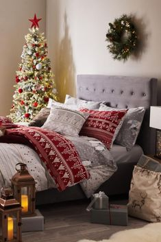 Wide range of Christmas available to buy today at Dunelm, the UK's largest homewares and soft furnishings store. Order now for a fast home delivery or reserve in store. Christmas Decorations For The Home, Christmas Themes, Holiday Decor, Christmas Bedding, Red Bedding, Christmas Aesthetic, Bedroom Decor, Bedroom Ideas, Red Christmas