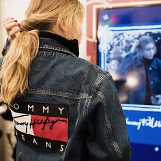 Gigi Hadid in the backstage GIF booth at #TommyFall16! Follow us on Twitter to see all the below deck fun!