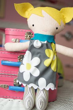 Cute Fabric Doll and Baby Quilt to sew