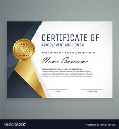 Premium Certificate Of Appreciation Award Design inside Award Certificate Design Template Certificate Of Recognition Template, Certificate Layout, Certificate Design Template, Certificate Of Appreciation, Certificate Of Achievement, Award Certificates, Adobe Illustrator, Best Templates, Brochure Design