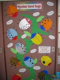 Number Bond Bugs -- maybe for kinder? Teaching Displays, Class Displays, School Displays, Classroom Displays, Math Classroom, Kindergarten Math, Teaching Math, Classroom Ideas, Teaching Ideas