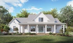 This modern farmhouse gives you Southern details and lots of style. Check out the open floor plan. Use code GETSOCIAL for 10% off your house plan (some exclusions apply). Questions? Call 1-800-447-0027 today. #architect #architecture #buildingdesign #homedesign #residence #homesweethome #dreamhome #newhome #newhouse #foreverhome #interiors #archdaily #modern #farmhouse #house #lifestyle #design #buildersareessential Ranch House Plans, Best House Plans, Bedroom House Plans, Modern House Plans, Small House Plans, Modern Farm Houses, Modern Farmhouse Plans, Farmhouse Design, Farmhouse Style