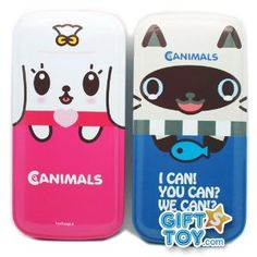 Canimals Mimi Can Animal Tin Pencil Case (Pink)