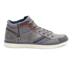 Basket montante fermeture déco grise - Baskets / Tennis - Chaussures homme