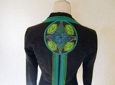 Veste tissu à motif africain et tulle customisée Upcycling