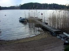 Boat dock and small beach