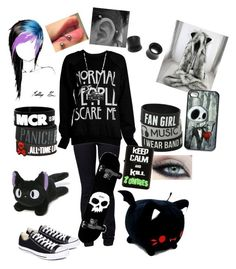 """What I want to be."" by literaldisaster ❤ liked on Polyvore featuring INDIE HAIR, Witchery, Converse, Hot Topic, NOVICA, Gund, CASSETTE and Disney"