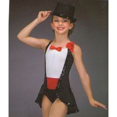PUTTIN' ON THE RITZ Tuxedo Tux Ice Skating Dance Costume Hat ...