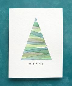 Painted Christmas Cards, Watercolor Christmas Cards, Diy Christmas Cards, Watercolor Cards, Christmas Art, Handmade Christmas, Christmas Holidays, Easy Diy Xmas Cards, Chrismas Cards