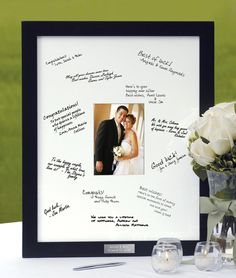 Personalized Guest Book Frame - This is so unique I love it