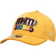 8878adc0d9e10 Youth Kyle Busch New Era Heathered Yellow M M s Driver 9FORTY Adjustable Hat
