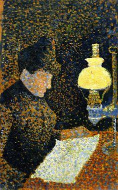 The Athenaeum - Woman Reading (Paul Signac - )