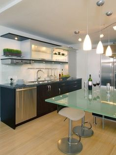 Modern Pendant Lighting Over Kitchen Island The Milano 4 Mini Satin Nickel With