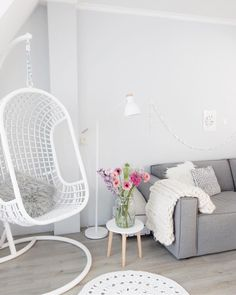 Scandi Style, Hanging Chair, Living Room Decor, Accent Chairs, Sweet Home, New Homes, Rooms, Instagram Posts, Furniture