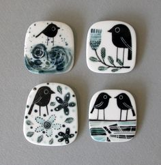 Karen Risby Artist and Ceramicist - Handmade Porcelain Ceramics at Castle Gallery Inverness Porcelain Jewelry, Ceramic Jewelry, Porcelain Ceramics, Cold Porcelain, Ceramic Pottery, Ceramic Art, Enamel Jewelry, Jewelry Rings, Porcelain Countertops