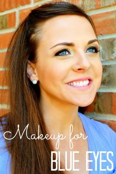 Make up for blue eyes All Things Beauty, Beauty Make Up, Hair Beauty, Pretty Makeup, Makeup Looks, Beauty Secrets, Beauty Hacks, Beauty Tips, Blue Eye Makeup