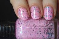 pink sparkly bubble gum color