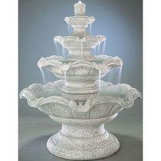 Henri Studio Tiered Cast Stone Quattro Classic Waterfall Fountain Finish: Trevia Greystone