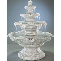 Found it at Wayfair - Tiered Cast Stone Quattro Classic Waterfall Fountain