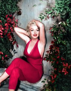Beautiful color photo of Marilyn Monroe, 1950's