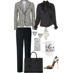 Created by Deranged Diva. Monday Boss Chic. A fashion look from January 2015 featuring Balmain blouses, FABIANA FILIPPI blazers and Uniqlo pants. Browse and shop related looks.