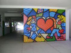 pintura em parede Escolas