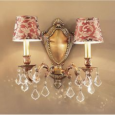 Chateau French Gold Two Light Wall Sconce Classic Lighting 2 Light Armed Candle Wall Sconc