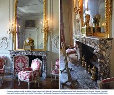 Louis XVI mantelpiece from the Petit Trianon in the Versailles Palace.