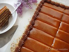 La cuisine creative: Doboš torta Dobos Cake Recipe, Torte Recepti, Party Cakes, Biscotti, Waffles, Cake Recipes, Deserts, Food And Drink, Cooking Recipes