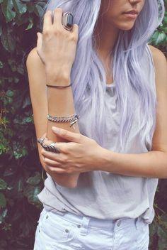 Platinum Purple hair.   Want this.