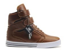 0cf91bf11b9d6 Supra TK Society Men Shoes Brown White Supra High Tops, Supra Sneakers,  Supra Shoes
