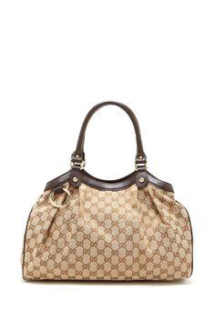 Gucci Canvas Logo Small Handbag