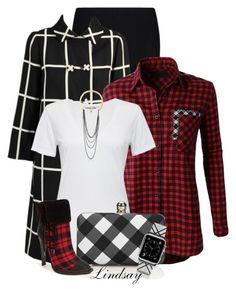 """Castillo 1960S Black And White Plaid Coat"" by lindsayd78 ❤ liked on Polyvore featuring Y-3, LE3NO, Cotton Citizen, Talbots, gx by Gwen Stefani, Casetify, Steve Madden, women's clothing, women and female"