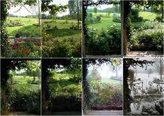 Ein Schweizer Garten  Jahreszeitenvergleich   Ausblick in den Garten