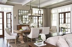 Amazing French Country Dining Room Table Decor Ideas 24 – Home Design French Country Dining Room, French Country Decorating, Country Living, Modern Country, Country Style, Country French, French Farmhouse, Southern Living, Low Country