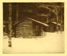 Cook Forest Cabins original hand printed photo by printsnat