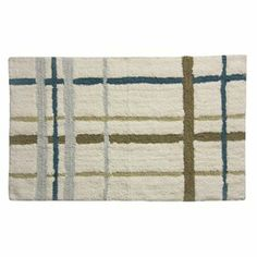plaid bath rug