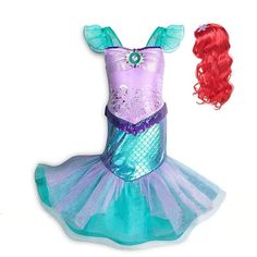 MUABABY Girl Little Mermaid Fancy Dress Up Kids Photography Tulle Ariel Cosplay Princess Costume Girls Christmas Party Long Gown Mermaid Fancy Dress, Little Mermaid Outfit, Ariel Dress, Fancy Dress Up, Girls Mermaid Costume, Disney Ariel Costume, Ariel Costumes, Dress Up Costumes, Cosplay Costumes