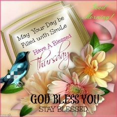 Good Morning, God Bless You. Stay Blessed!!