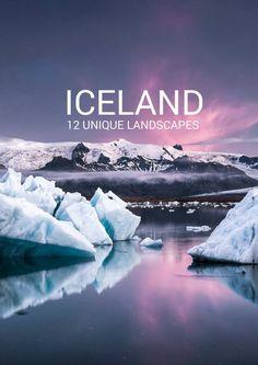12 unique landscapes in Iceland