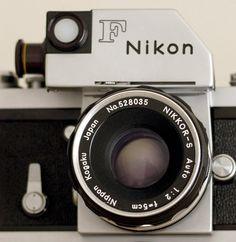 Vintage Nikon camera rare 35mm film camera Nikon Photomic F, early 1960s camera
