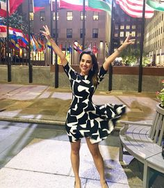 #mulpix Having my Marilyn moment as I leave  #30Rock after my first day at NBC & MSNBC! It's late. It's dark. It's windy because of the tropical storm. Somehow I found the one noble tourist around to take this. As she snapped the pic, she asked me: do you work here? I put my hands in the air and said: YES!!! (If I say it enough times, maybe I'll believe it...)  #MillennialMarilyn  #PinchMe  #FirstDay  #ThisLatinaCantBelieveIt  #DancingInside  #GraciasDios  #GraciasAUstedes  #Chama…